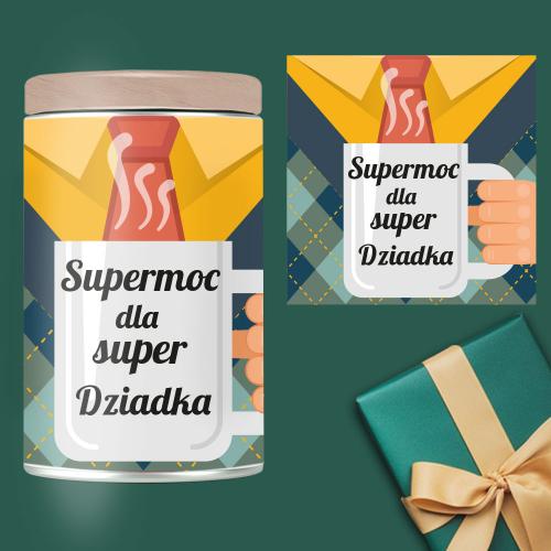 SUPERMOC DLA SUPER DZIADKA PUSZKA BIAŁA