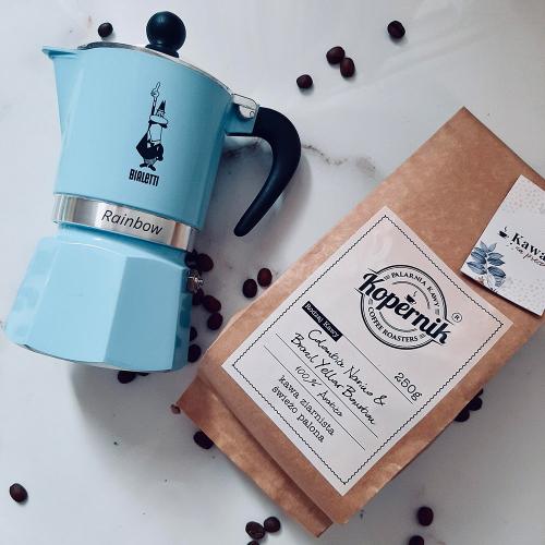 Zestaw Kawiarka Bialetti BLUE +Kawa
